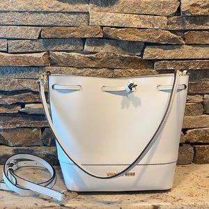 NWOT Michael Kors white leather bucket bag
